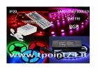 KIT COMPLETO STRISCIA LED 5M STRIP RGB SMD5050/300LED MULTICOLOR IP20 + 44TASTI